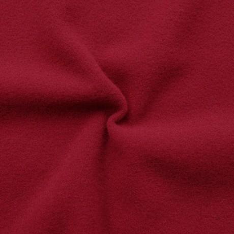 Mantel Flausch Wollstoff Karmin-Rot
