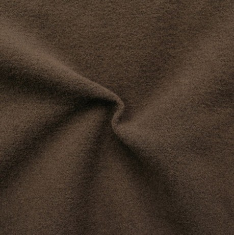 Mantel Flausch Wollstoff Dunkel-Braun