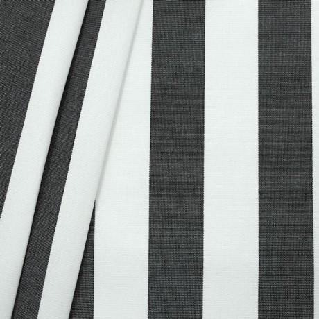 Markisen Outdoorstoff Streifen Schwarz Weiss