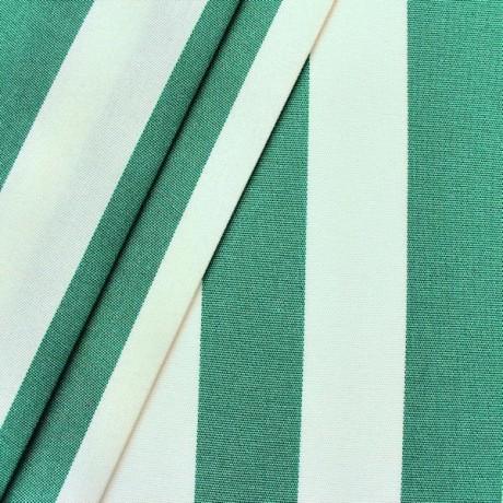Markisenstoff Outdoorstoff Streifen Grün-Weiss