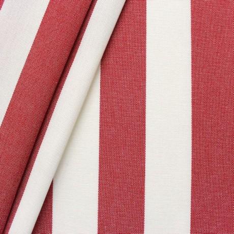 Markisenstoff Outdoorstoff Streifen Rot-Weiss
