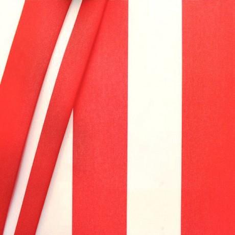 Markisenstoff Dekostoff Blockstreifen Rot Weiss