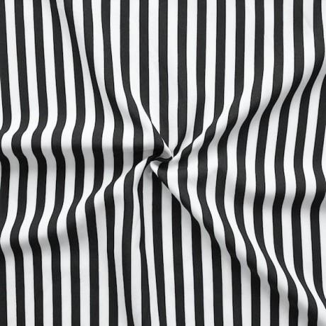 Modestoff / Dekostoff universal Streifen Schwarz-Weiss