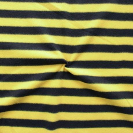 Polar Fleece Streifen Schwarz-Gelb