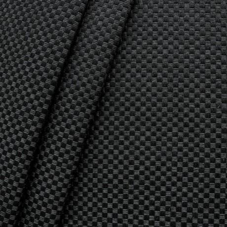 Polster- Möbelstoff Flechtoptik klein Schwarz Grau