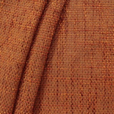 Polster- Möbelstoff Bouclé Optik Terrakotta-Orange