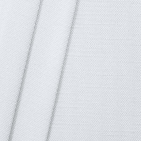 Polster- Möbelstoff Leinen-Baumwolle Optik Weiss