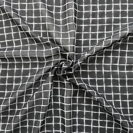 Polyester Chiffon Gitternetz Schwarz