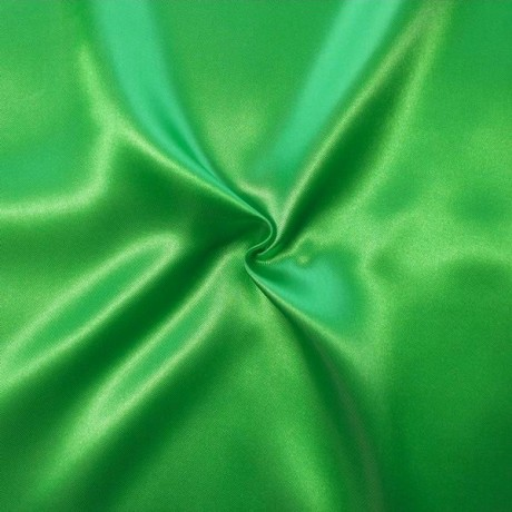Satin Stoff Gras-Grün