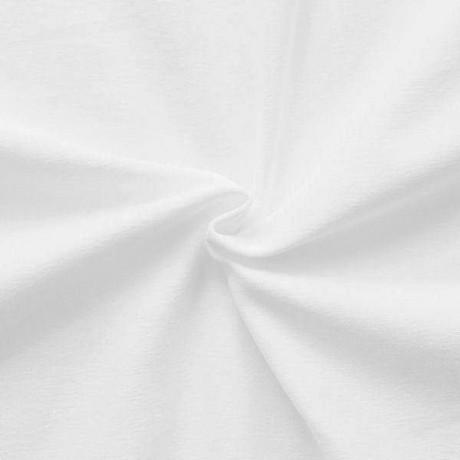 Single Jersey Baumwollstoff Farbe Weiss