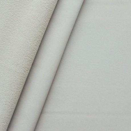 Softshell Fleece Stoff Beige Grau