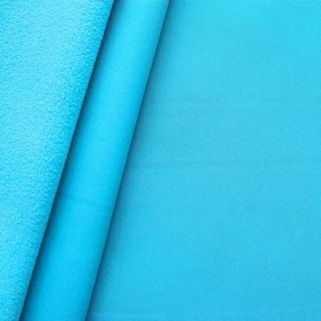 Softshell Fleece Stoff Himmel-Blau