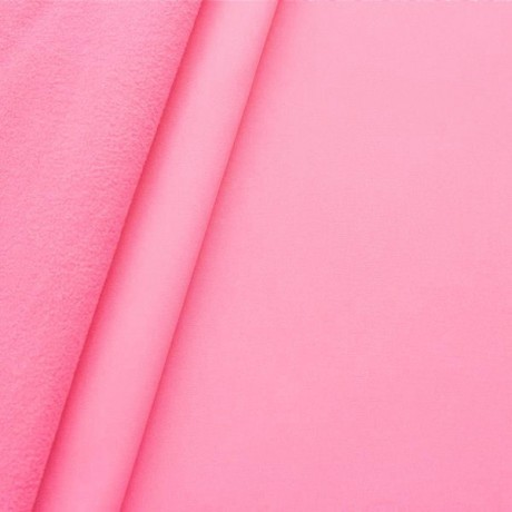 Softshell Fleece Stoff Rosa