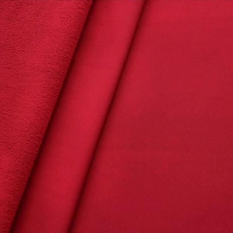 Softshell Fleece Stoff Rot