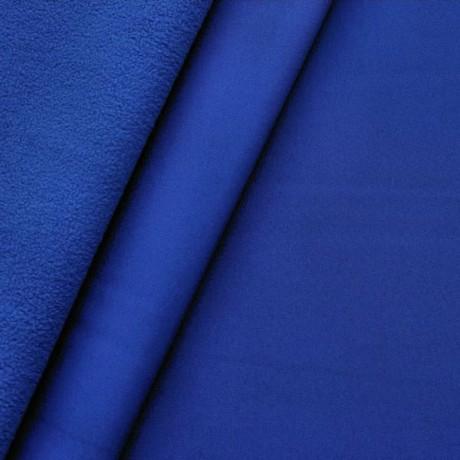 Softshell Fleece Stoff Royal-Blau