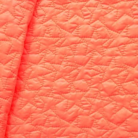 Steppstoff wattiert Sterne Neon-Orange