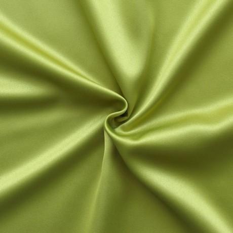 Stretch Satin Stoff 2 Farbe Lind-Grün