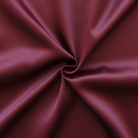 Stretch Satin Stoff 2 Farbe Weinrot