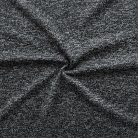 Strick Jersey Dunkel-Grau melange