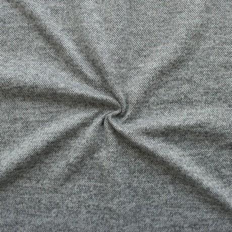Strick Jersey Melange Hell-Grau melange