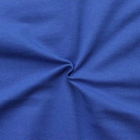 Sweatshirt Baumwollstoff French Terry Royal-Blau
