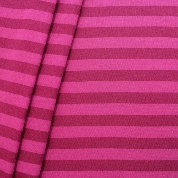 sweatshirt baumwollstoff streifen duo farbe pink fuchsia. Black Bedroom Furniture Sets. Home Design Ideas