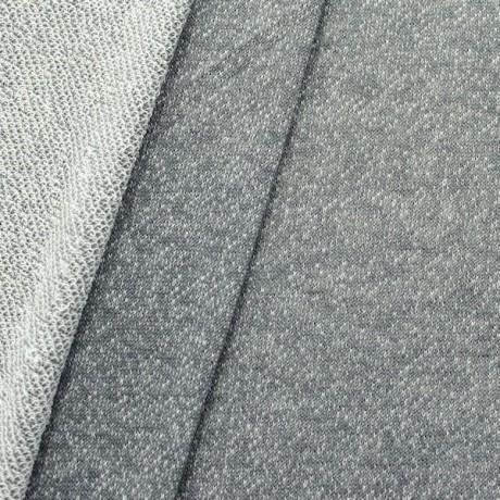 Sweatshirt Stoff French Terry Melange Optik Anthrazit