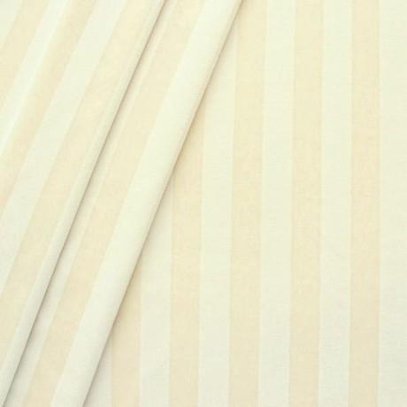 Trevira CS Polsterstoff / Dekostoff  Velvet Stripes Creme-Weiss