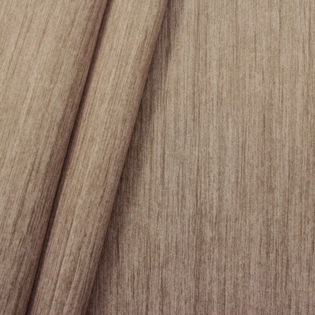 Verdunkelungs- Thermo Vorhangstoff Black Out Holzmaserung Braun