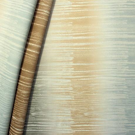 Verdunkelungs- Thermo Vorhangstoff Black Out Abstract Art Beige-Braun