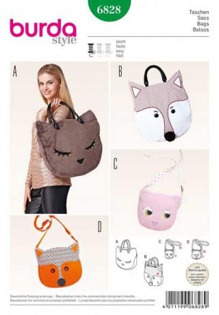 Taschen – Katze – Fuchs, Schnittmuster Burda 6828